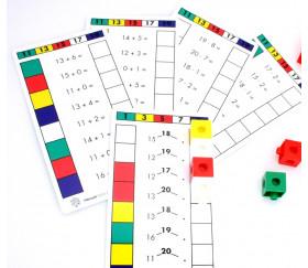Fiches activité : calcul autonomie avec cubes