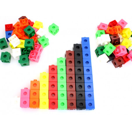100 pions cubes emboîtables 20 x 20 mm clipsables