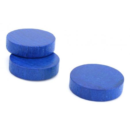 Pion palet 4 cm en bois pour jeu 40 x 10 mm bleu