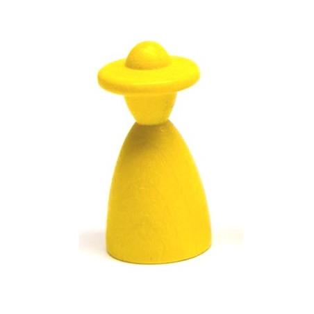 Pion homme au chapeau 13 x 26 mm