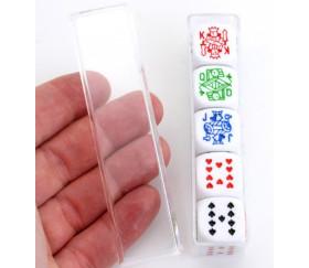 Lot 5 dés poker 16 mm pour poker d'as