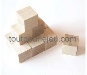Cubes bois 2.5 cm. 25 x 25 x 25 mm