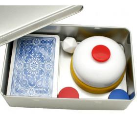 Boite métal A5 pour 2 jeux cartes à jouer et accessoires 142 x 103 x 45 mm