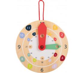 Horloge en bois éducation diamètre 18 cm