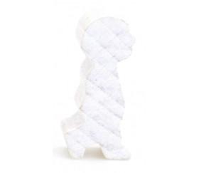 Pion personnage de profil en bois blanc 14 x 30 X 8 mm enfant garçon à l'unité