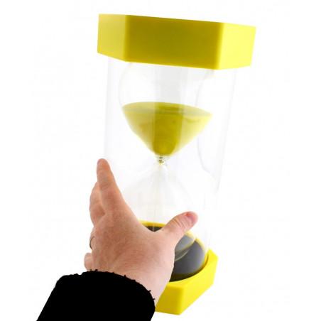 Sablier géant de 45 minutes hauteur de 30 cm jaune