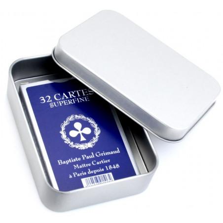 Boite métal cartes à jouer 105 x 75 x 25 mm avec charnières
