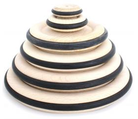 Roue en bois de 14 cm avec pneu caoutchouc pour construction