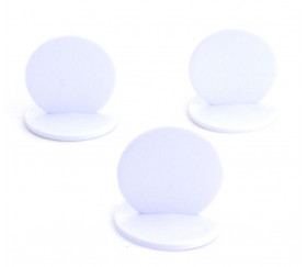 Grand Pion rond à personnaliser - support blanc 45 x 42 mm