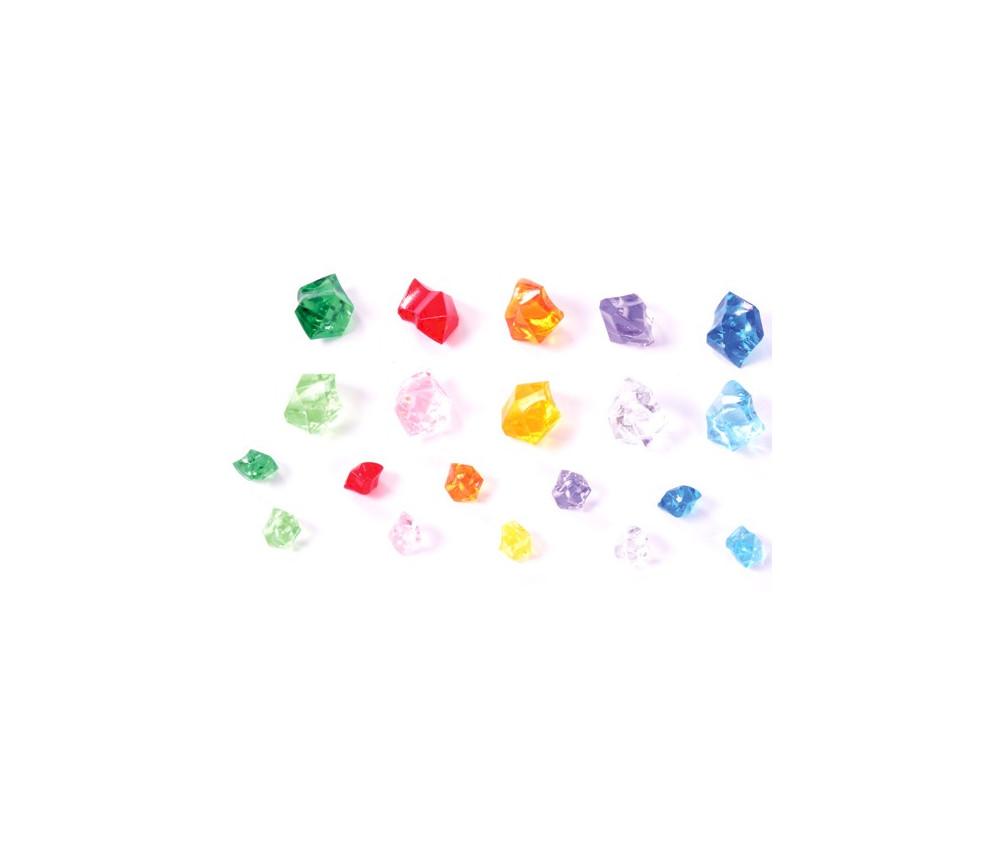500 pépites colorées imitation pierres précieuses gemmes