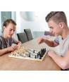 32 Pièces jeu d'échecs bois coffret en bois standard marron et naturel.