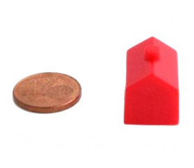 Pion hotel rouge en plastique