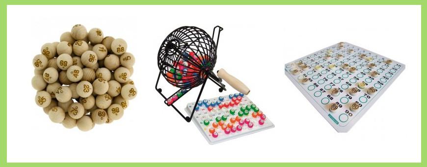Tirage loto : boules, sachet, jetons