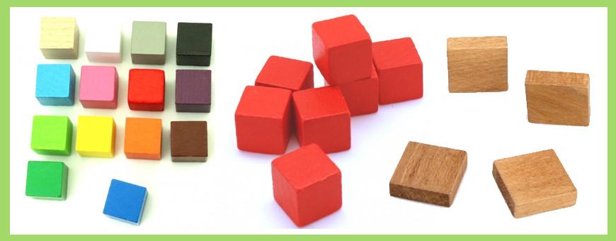 Cubes et jetons carré