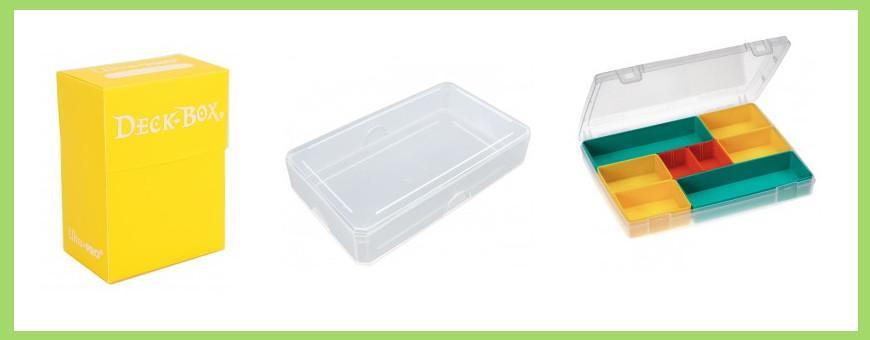 Boite plastique pour cartes à jouer et deck