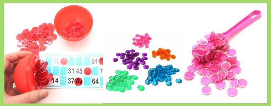 Pions pour jeu de loto