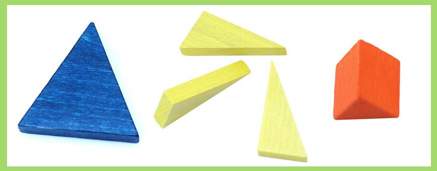 Pièce triangle pour jeu