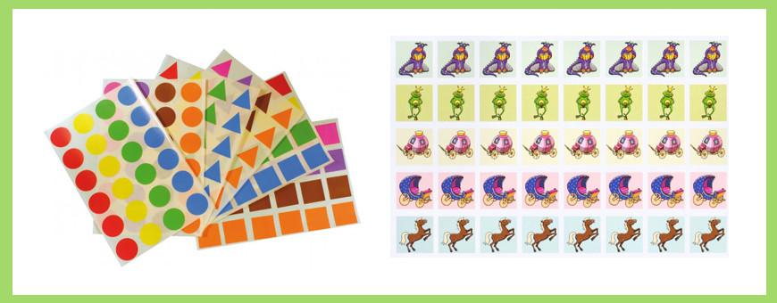 Stickers et mini autocollants