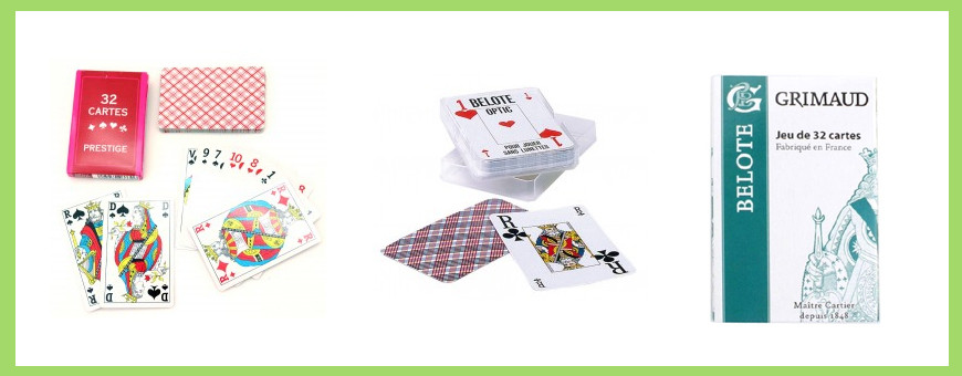 Jeu 32 cartes Belote