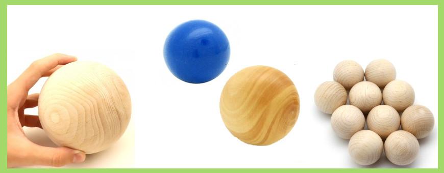 Boules en bois pleines