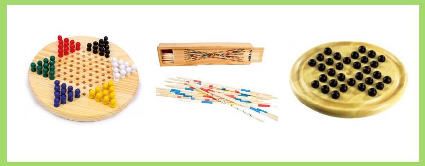 Jeux société traditionnels bois