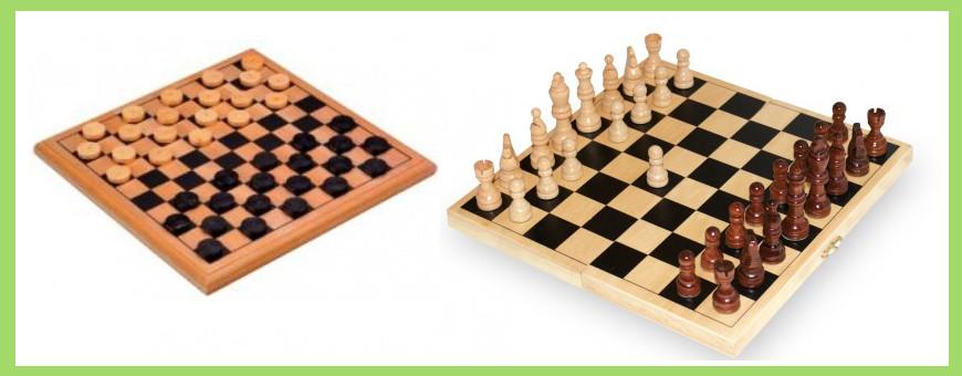 Jeu échecs et jeux dames